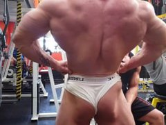 Thick Bodybuilder vidz Posing in  super Underwear