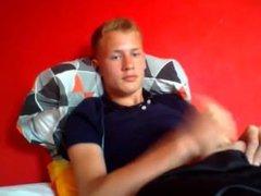 Danish 18yo vidz Boy In  super T-shirt And Shorts (3 Facts - 1 Cock, 2 Cum, 3 Cam)
