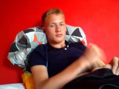 Danish 18yo vidz Boy In  super T-shirt And Shorts (3 Facts - 1 Cock, 2 Cum, 3 Cam)