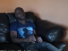 Soothing blowjob vidz for a  super black construction worker dude