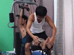 Asian Boy vidz Idol Tickled  super On The Gym