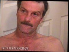 Homemade Video vidz of Mature  super Amateur Richard Jerking Off