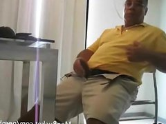 real amateur vidz guy tugging  super his short fat cock
