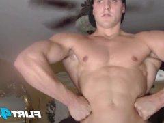 CJ Reed vidz Unloads Jizz  super All Over His Muscular Toned Body