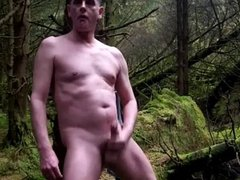 stripped naked vidz in the  super woods