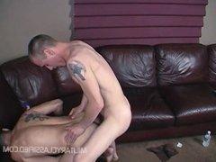 Drill Sarge vidz fucks doggie  super style+shoots on ass!