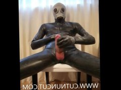 Full Rubber vidz Wank And  super Cum