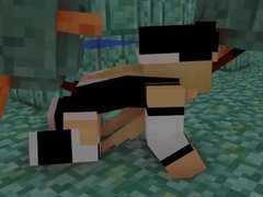 Girl in vidz Minecraft have  super sex