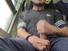 Jerk Off vidz In Train  super So Horny