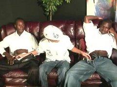Twink latino vidz guy gets  super gangbanged by black men