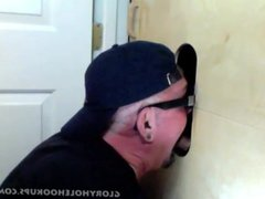 Gloryhole Suck vidz Off Of  super Curious Married Guy