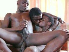 Black African vidz Twink Bareback  super Threesome
