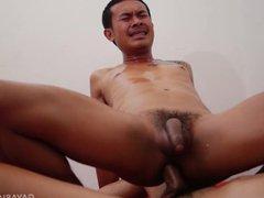 Kinky Asian vidz Twinks Sam  super and Guy Bareback