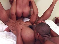 Next Door vidz Ebony XL  super Chocolate Threesome