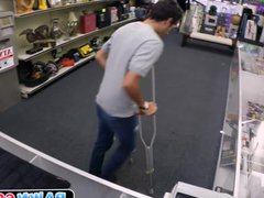 Dude moans vidz as he  super is fucked in pawn shop