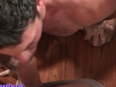 Gay groupsex vidz fun on  super the dining room table