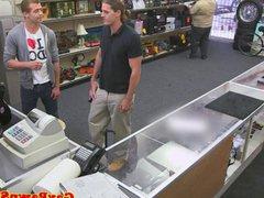 Straight stud vidz sucking for  super cash at pawnshop