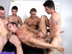 Gay orgy vidz climaxing over  super one lucky little jock