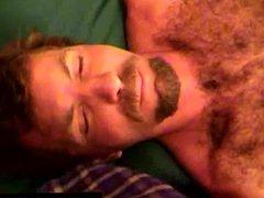 Hairy straight vidz redneck gets  super facial