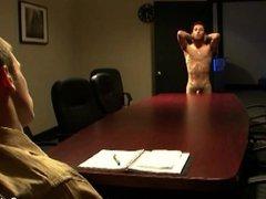 Slim gay vidz gets ass  super fucked hard at work