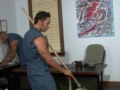 Gay cleaning vidz guys fucking  super in the office