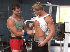 Sexy jocks vidz fuck in  super the gym