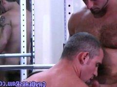 Stroking Bear vidz Boner at  super The Gym