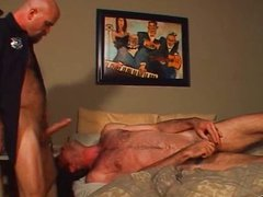 This bear vidz gets his  super throat and ass pounded