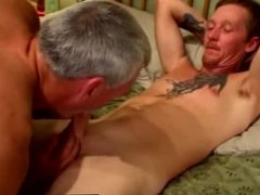 Mature gay vidz duo give  super each other facials