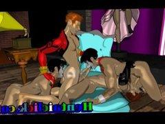 Muscular hentai vidz gay group  super sex gangbanged orgy