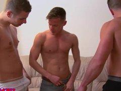 British gay vidz jock threeway  super creamy ending