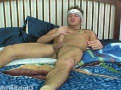 Blonde Straight vidz Guy Brad  super Masturbating