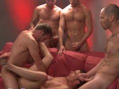 Troy Collins vidz gets a  super facial at a gay orgy