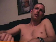 Solo dude vidz masturbating his  super pierced dick