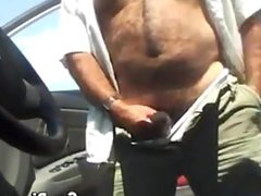 Big Bear vidz Fucking Guy  super In A Car POV