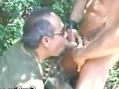 Soldiers Sucking vidz Cock Outside