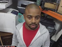 Black dude vidz sell himself  super as a toy in a shop