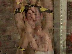 Amazing gay vidz scene Spitting  super Cum In A Slaves