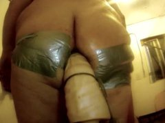 Spread my vidz ass with  super duct tape and fuck it deep