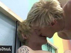 Twink sex vidz These 2  super ash-blonde studs go at it