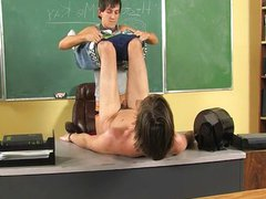 Banged On vidz The Teachers  super Desk!