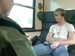 Military blonde vidz and train