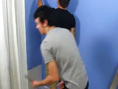 Hot gay vidz Julian Smiles  super was hired to paint,