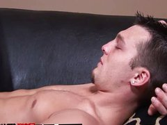 Gay video vidz Making himself  super handy on the