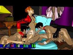 Muscular hentai vidz gays group  super gangbang