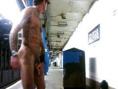 Tattoo Muscle vidz Public Jo  super Nyc Subway Station