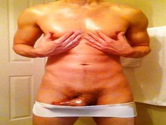 bulging in vidz white strip  super of cloth