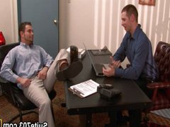 Gays Spencer vidz and Trent  super fucking in the office
