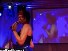 Male stripper vidz gives a  super show on stage