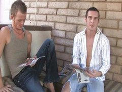 College guys vidz Jake and  super Aiden jerked off outdoo